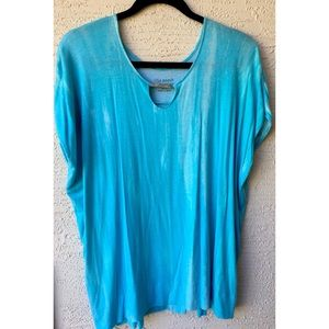 Lisa Rinna Collection Blue Shirt
